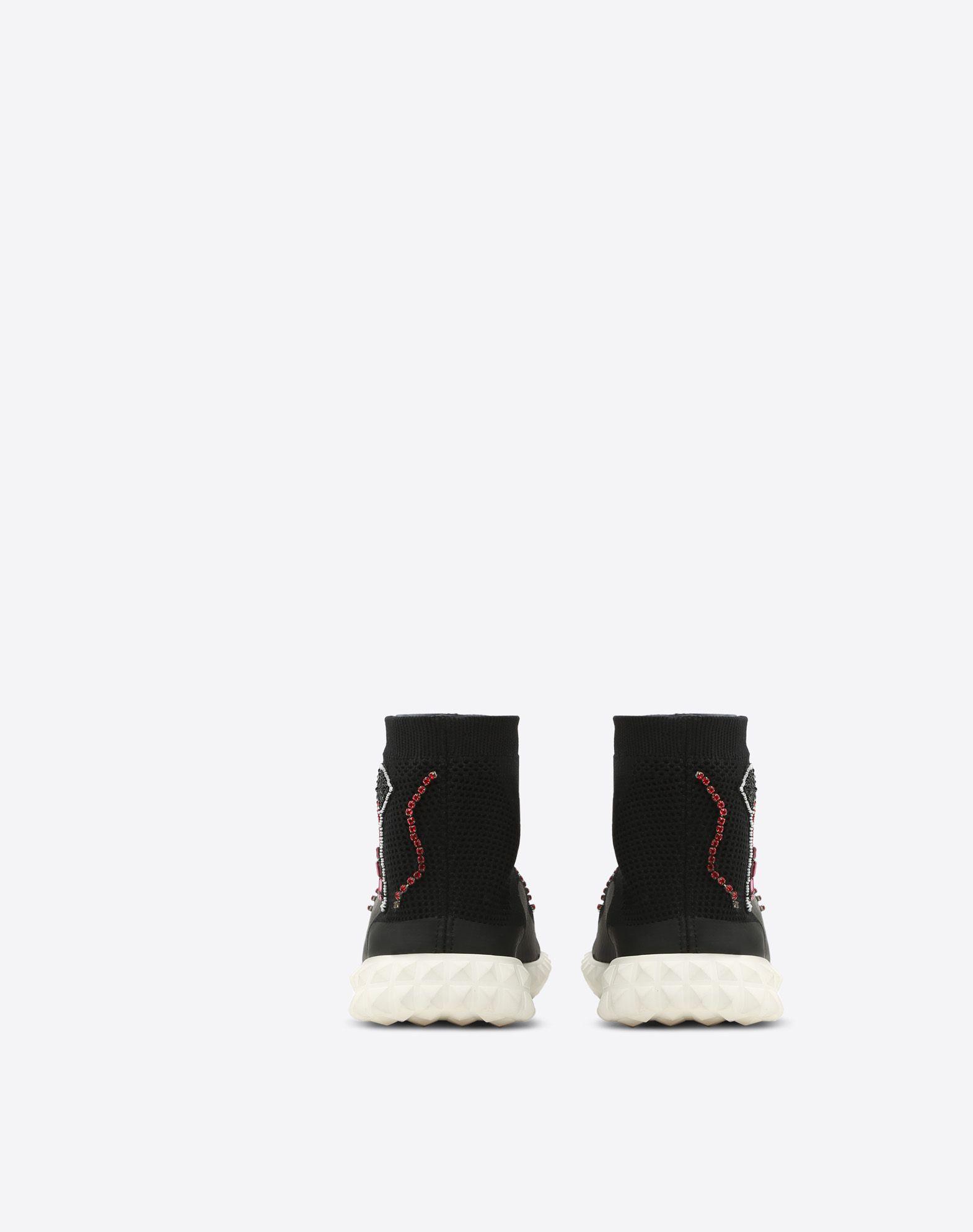 VALENTINO GARAVANI Embroidered Sneaker HIGH-TOP SNEAKER D d