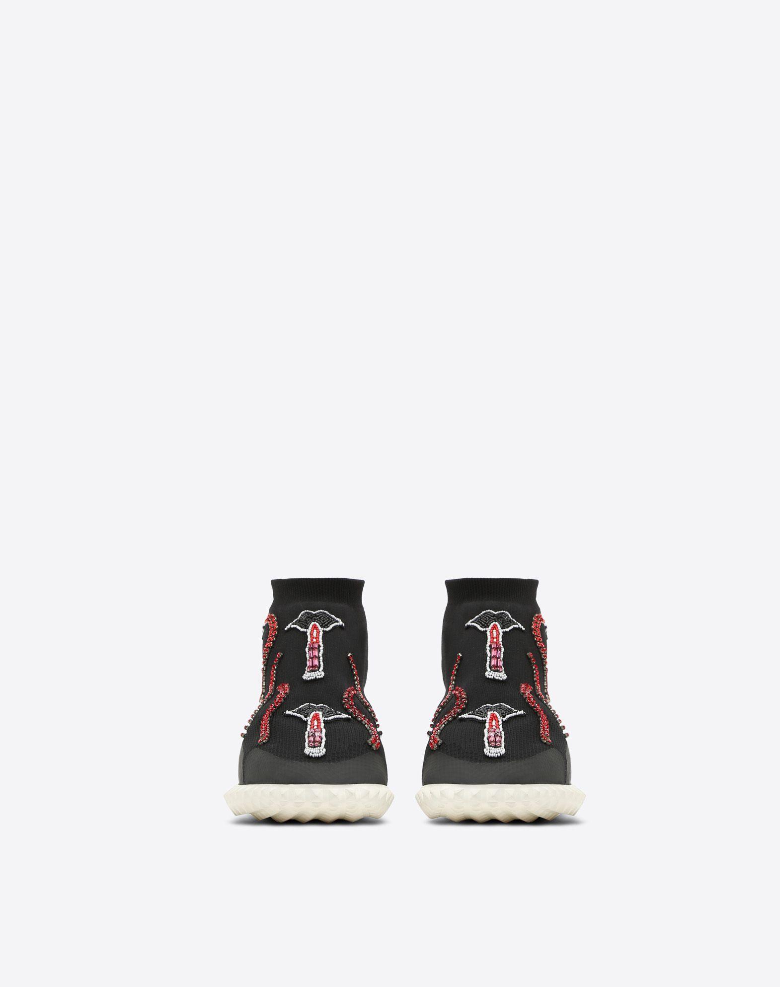 VALENTINO GARAVANI Embroidered Sneaker HIGH-TOP SNEAKER D e