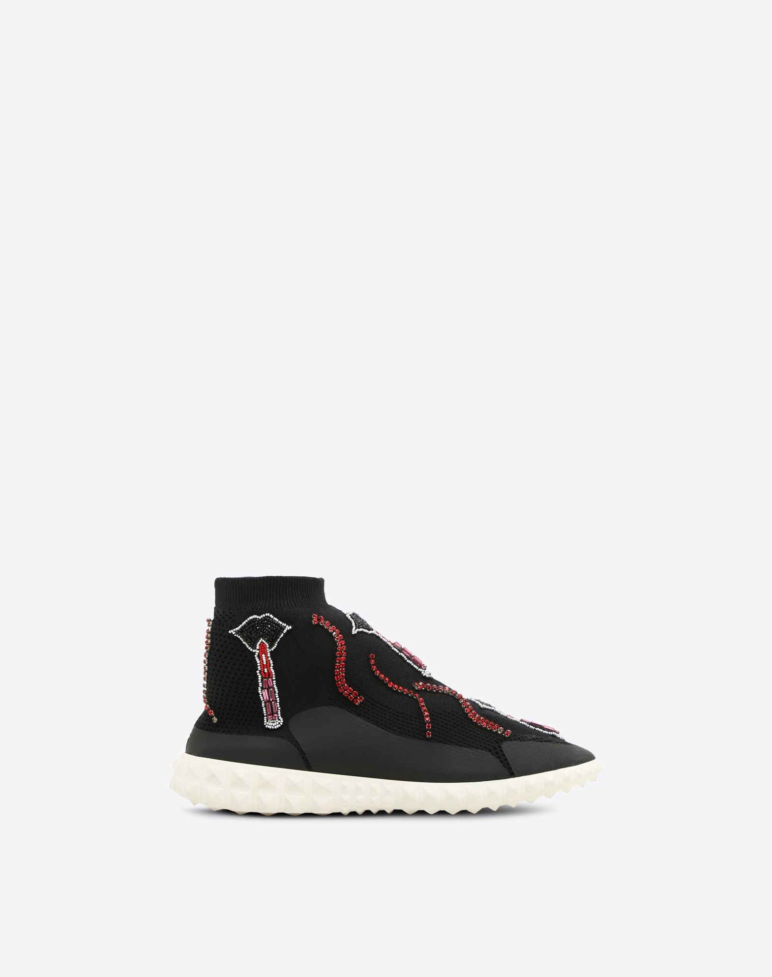 VALENTINO GARAVANI Embroidered Sneaker HIGH-TOP SNEAKER D f