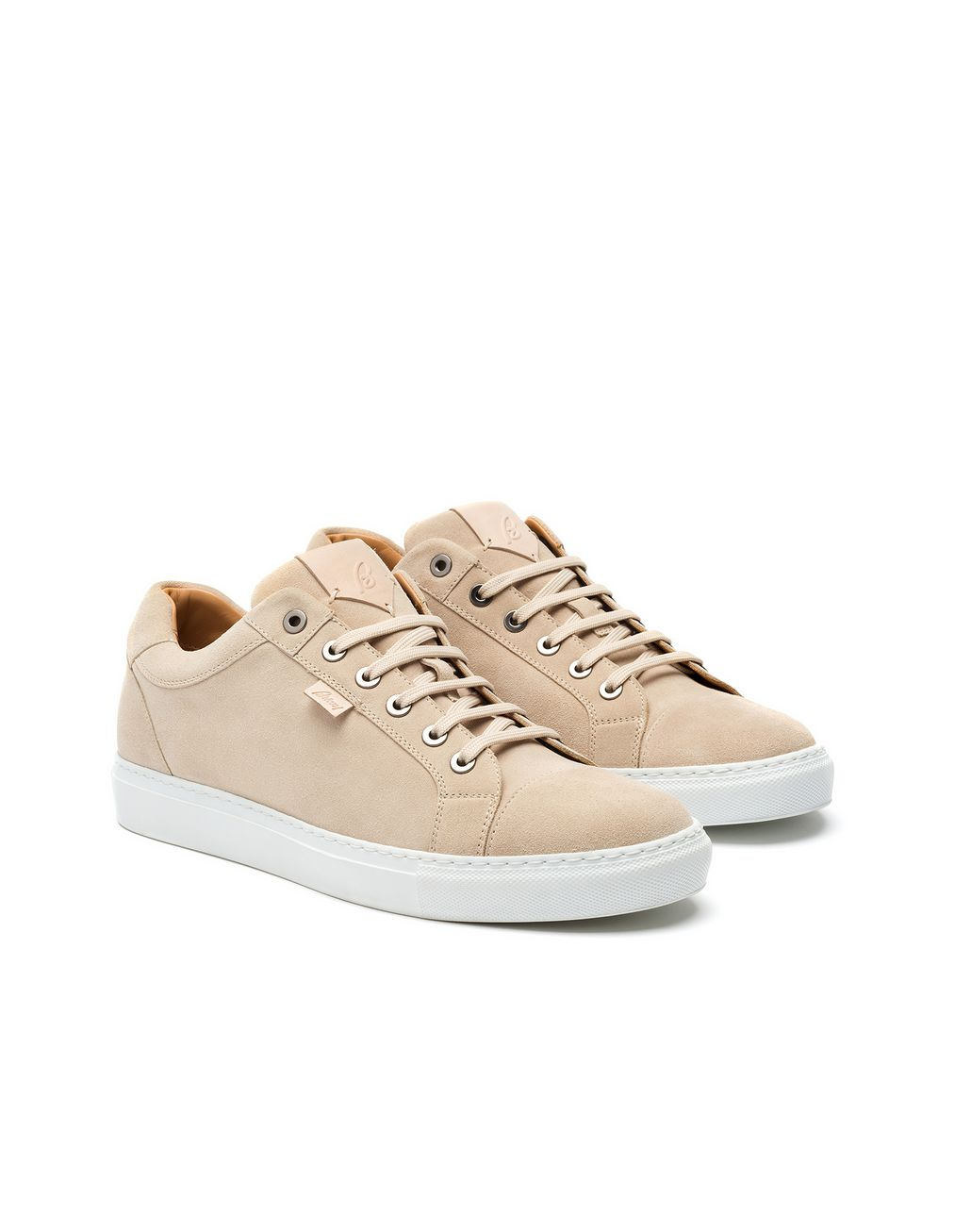 BRIONI Ivory Calfskin Suede Sneaker Sneakers [*** pickupInStoreShippingNotGuaranteed_info ***] d