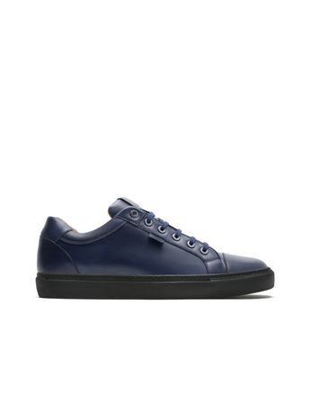 Sneakers Blu Navy in Pelle di Vitello
