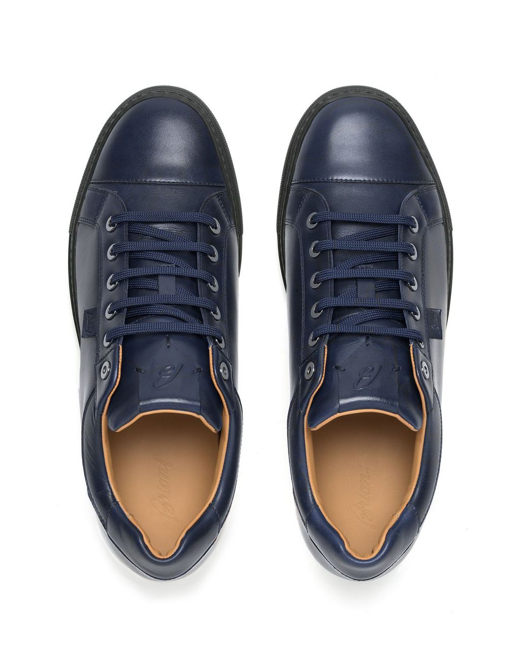 BRIONI Navy-Blue Calfskin Sneaker Sneakers [*** pickupInStoreShippingNotGuaranteed_info ***] r