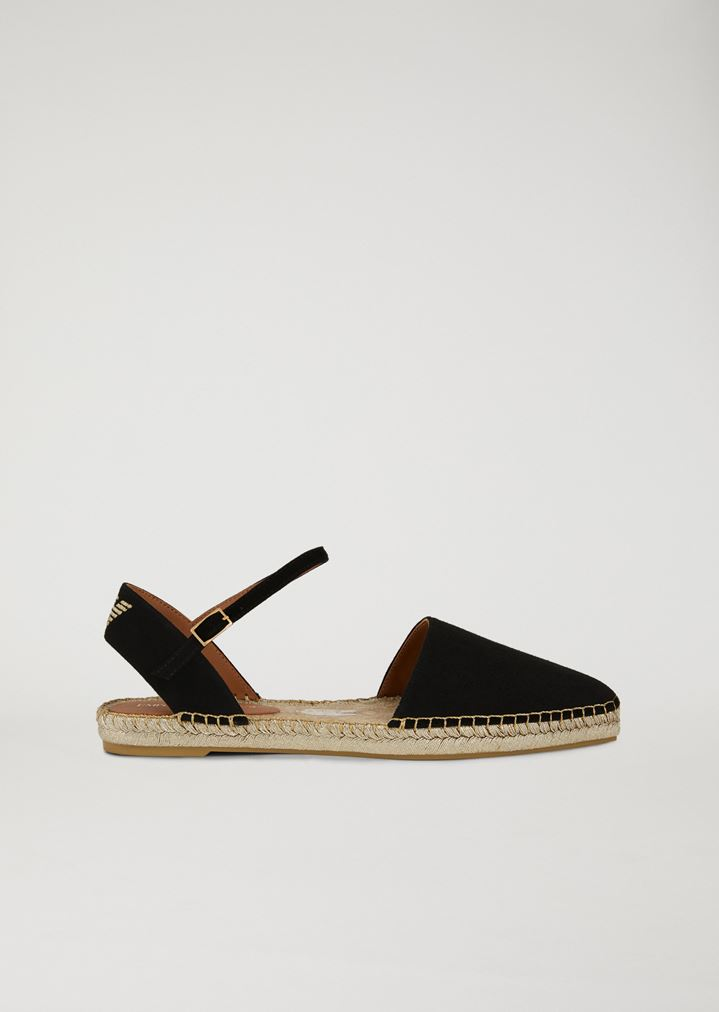 7042a6110b20 Espadrilles with ankle strap   Woman   Emporio Armani