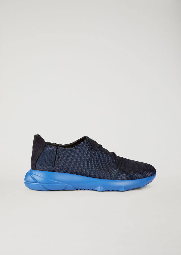 elasticated lace-up sneakers - Blue Emporio Armani a0CpK0B5W