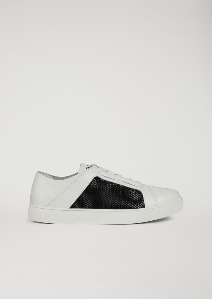 0dd30e1fae Sneakers in Leather and Technical Fabric | Man | Emporio Armani
