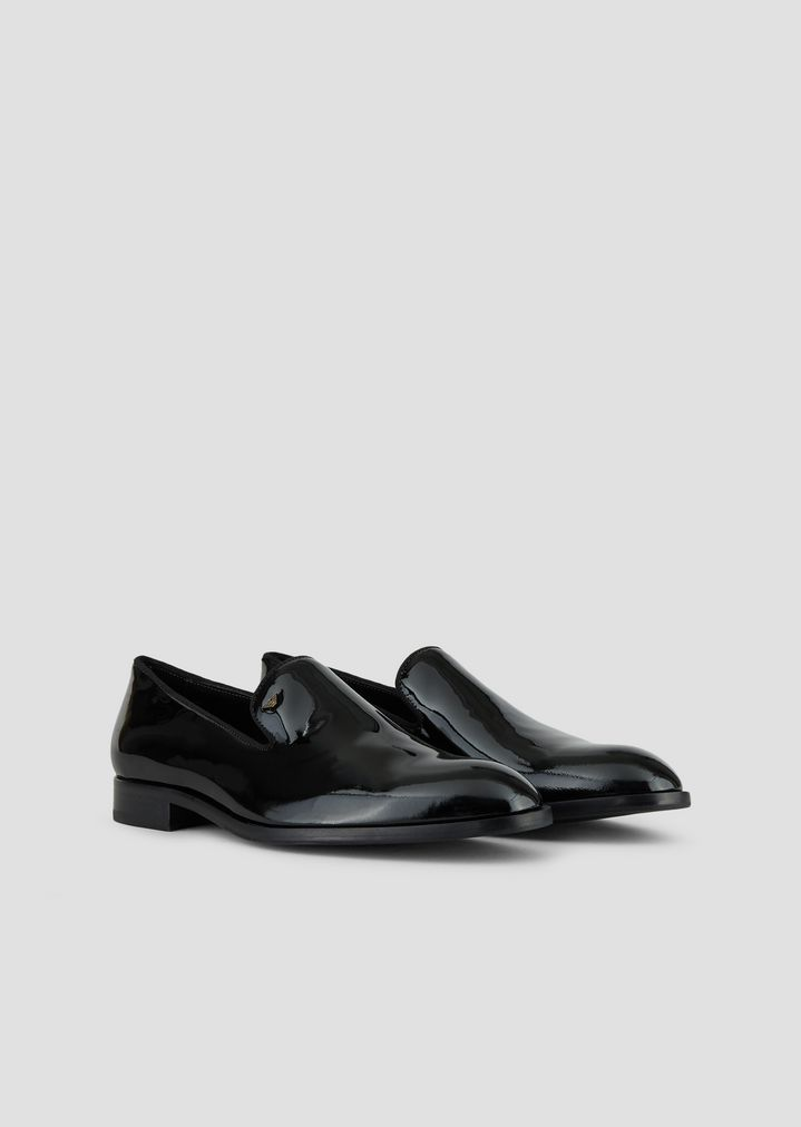 3c56d8d8539 ... Loafer in patent leather. EMPORIO ARMANI