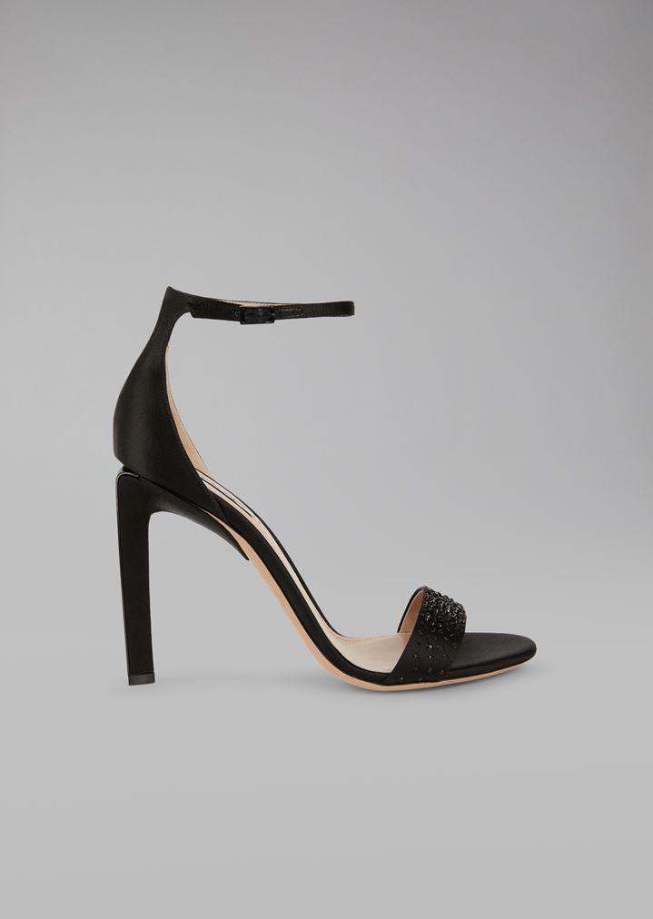28891c98f GIORGIO ARMANI Sandals with satin heel Sandals Woman f