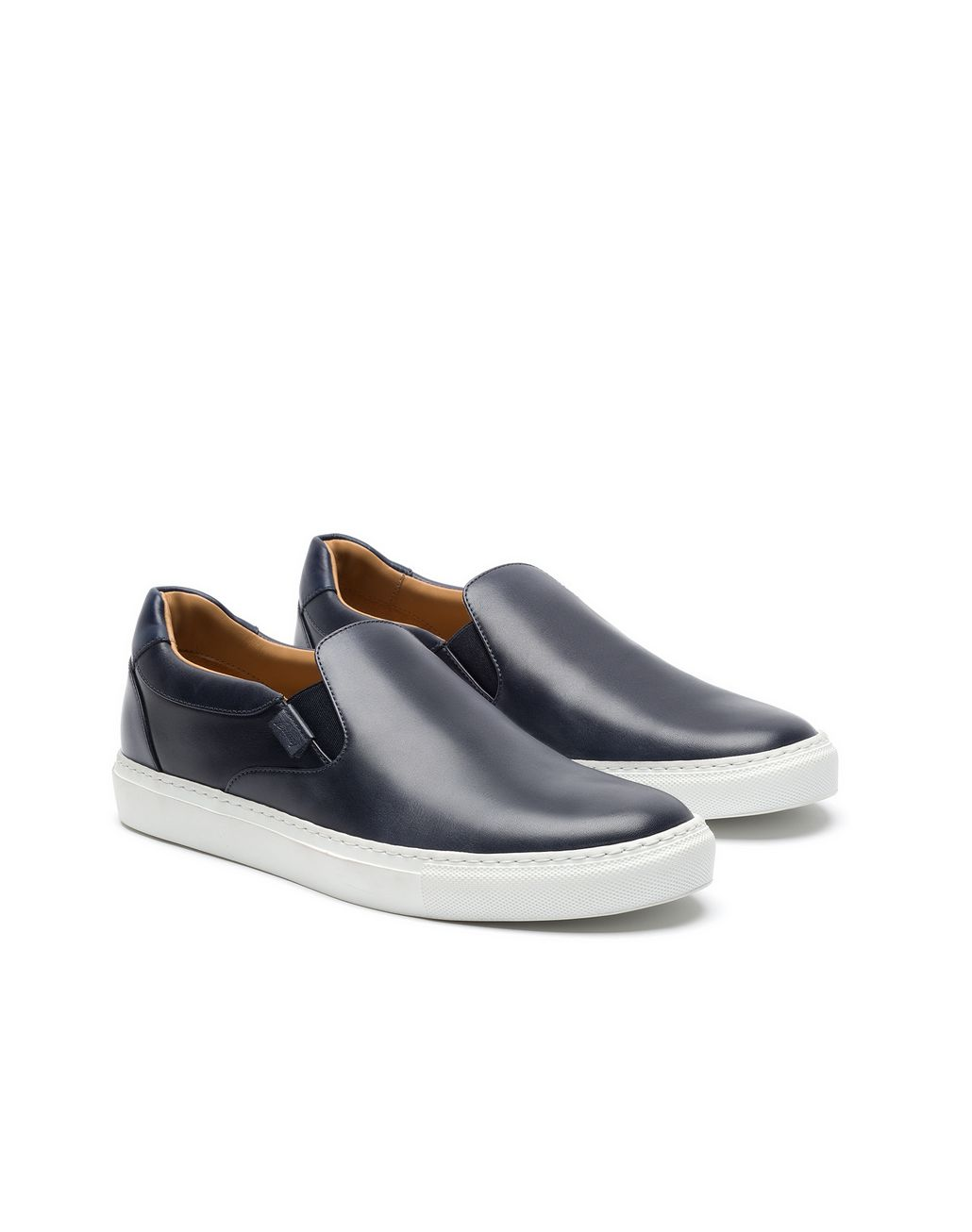 BRIONI Navy Blue Slip on Sneaker Sneakers Man d