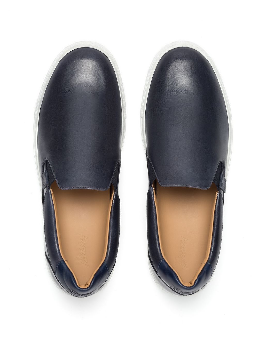 BRIONI Navy Blue Slip on Sneaker Sneakers [*** pickupInStoreShippingNotGuaranteed_info ***] r