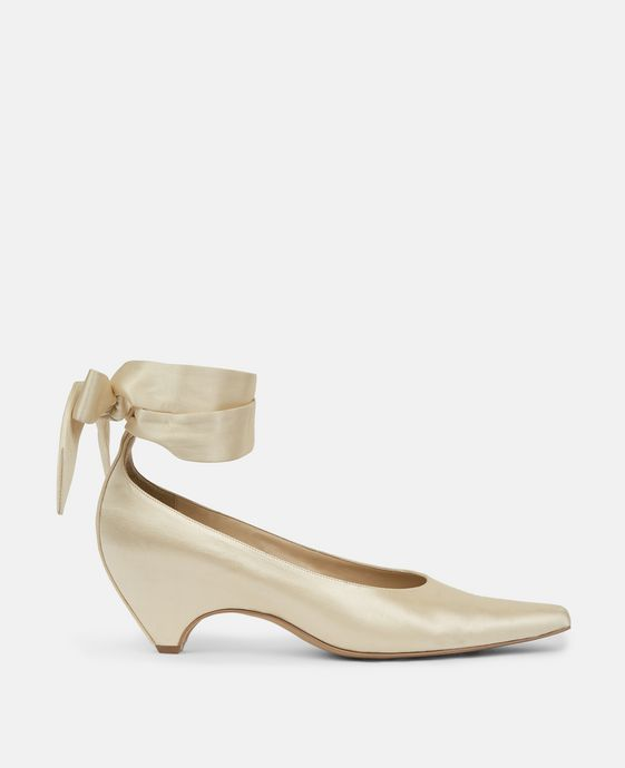 Butter Bow-Tied Pump