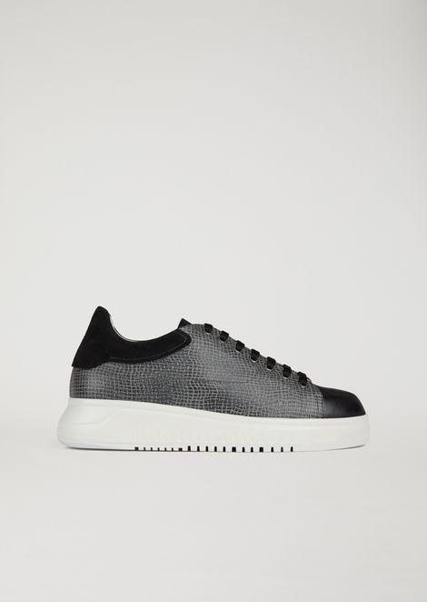 Yuta Print Leather Sneakers