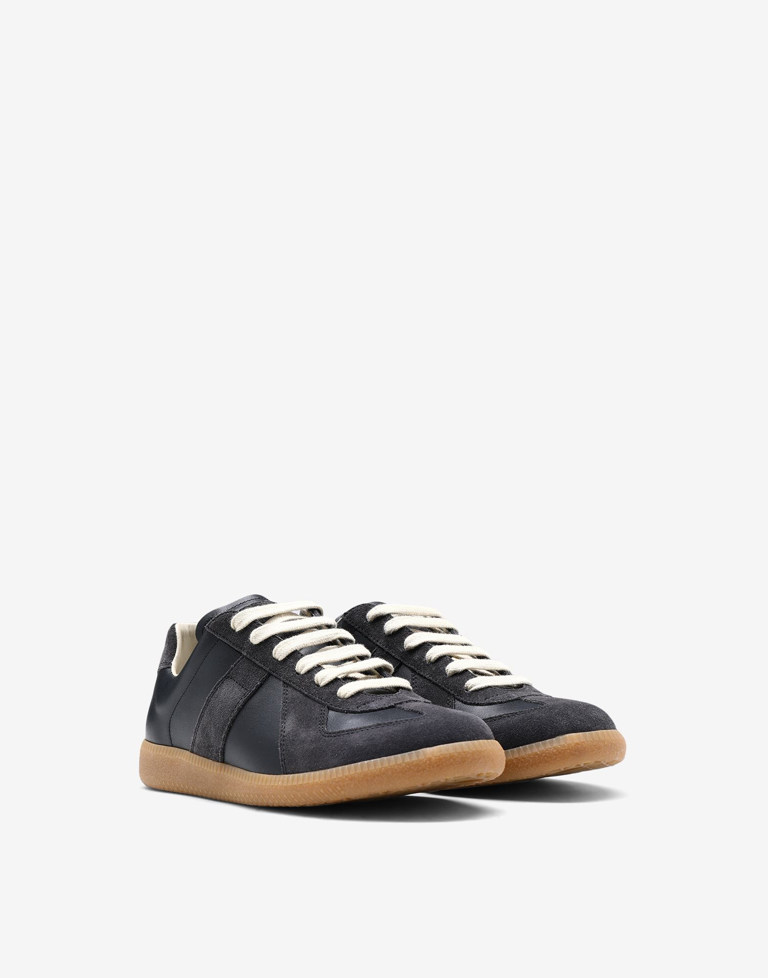 "MAISON MARGIELA Calfskin and suede ""Replica"" sneaker Sneakers Woman r"