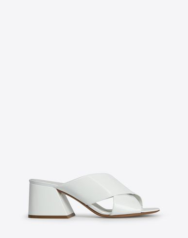 MAISON MARGIELA Sandals Woman Patent leather slip-ons f