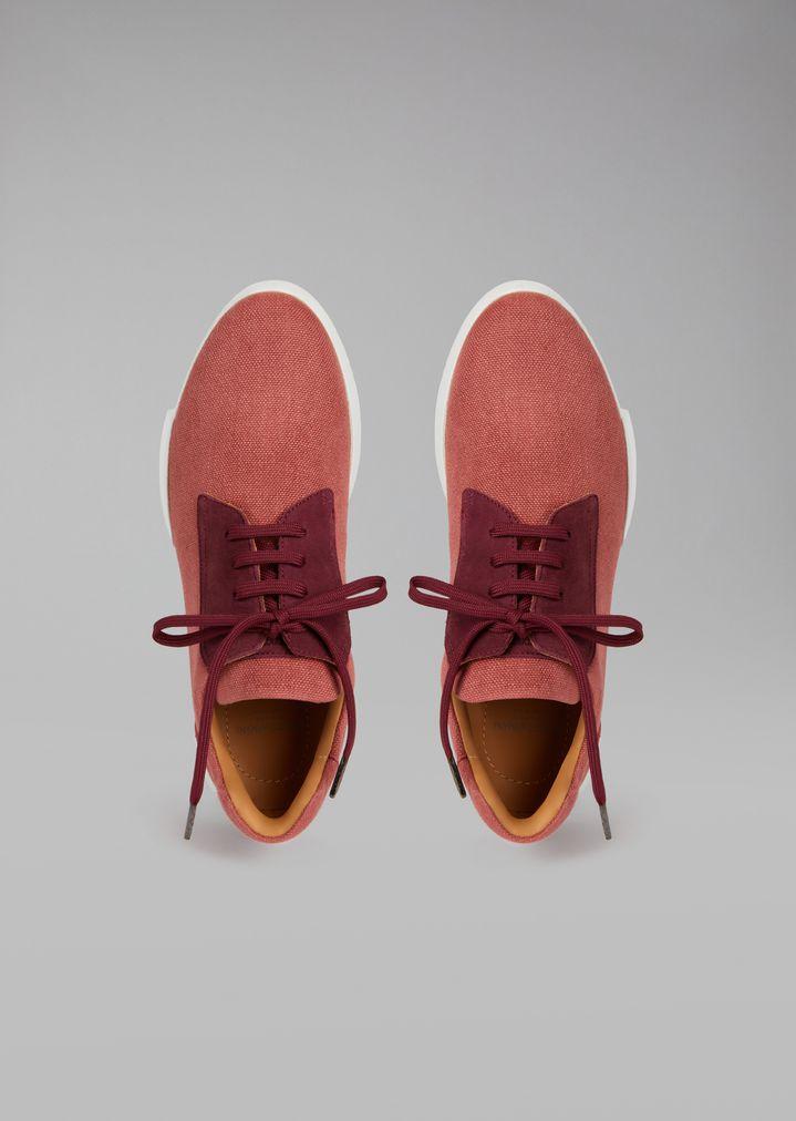 GIORGIO ARMANI Canvas sneakers Sneakers Man e
