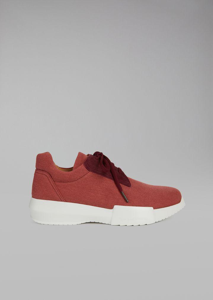 GIORGIO ARMANI Canvas sneakers Sneakers Man f