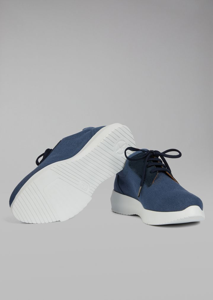 GIORGIO ARMANI Sandalias de piel charol Sneaker Hombre a