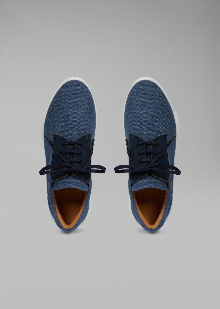 GIORGIO ARMANI Sandalias de piel charol Sneaker Hombre e