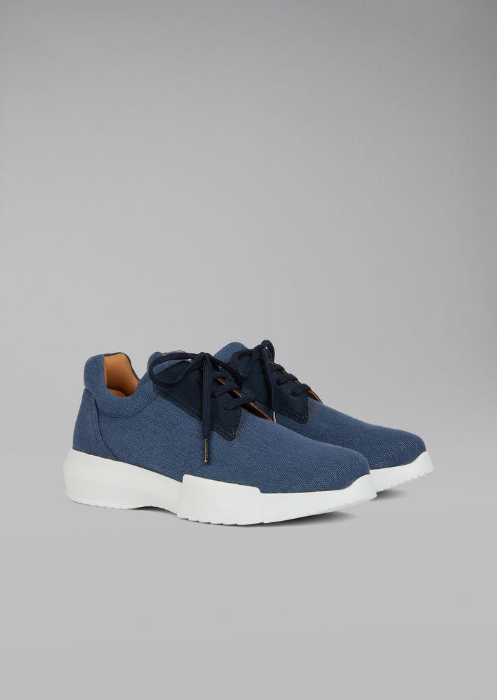 GIORGIO ARMANI Canvas sneakers Sneakers Man r