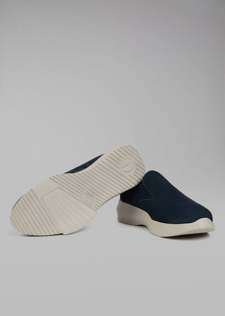 GIORGIO ARMANI Suede slip-on Sneakers Man a