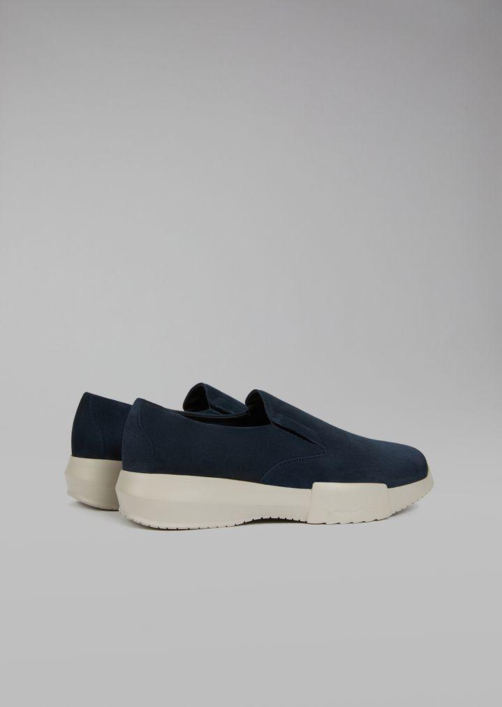 GIORGIO ARMANI Suede slip-on Sneakers Man d