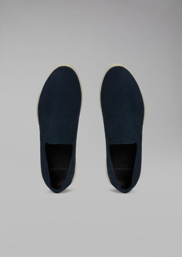 GIORGIO ARMANI Suede slip-on Sneakers Man e