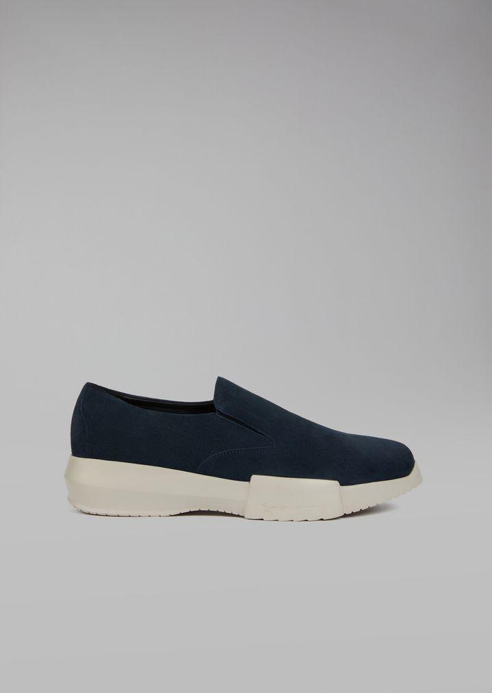 GIORGIO ARMANI Suede slip-on Sneakers Man f