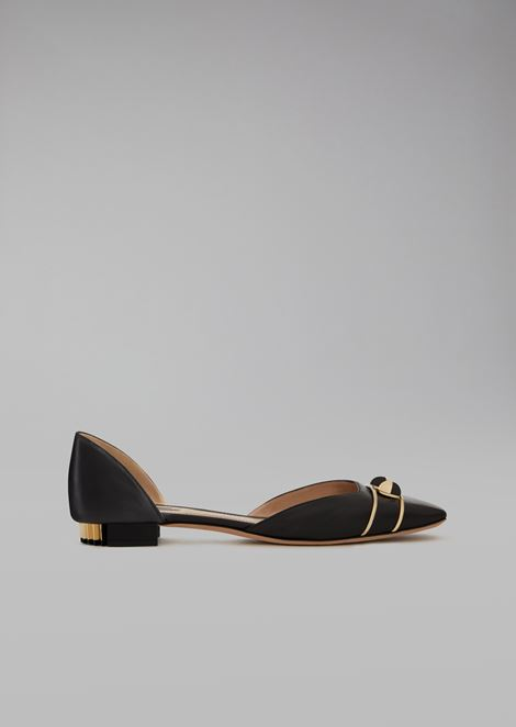 Leather ballet flats with marbles
