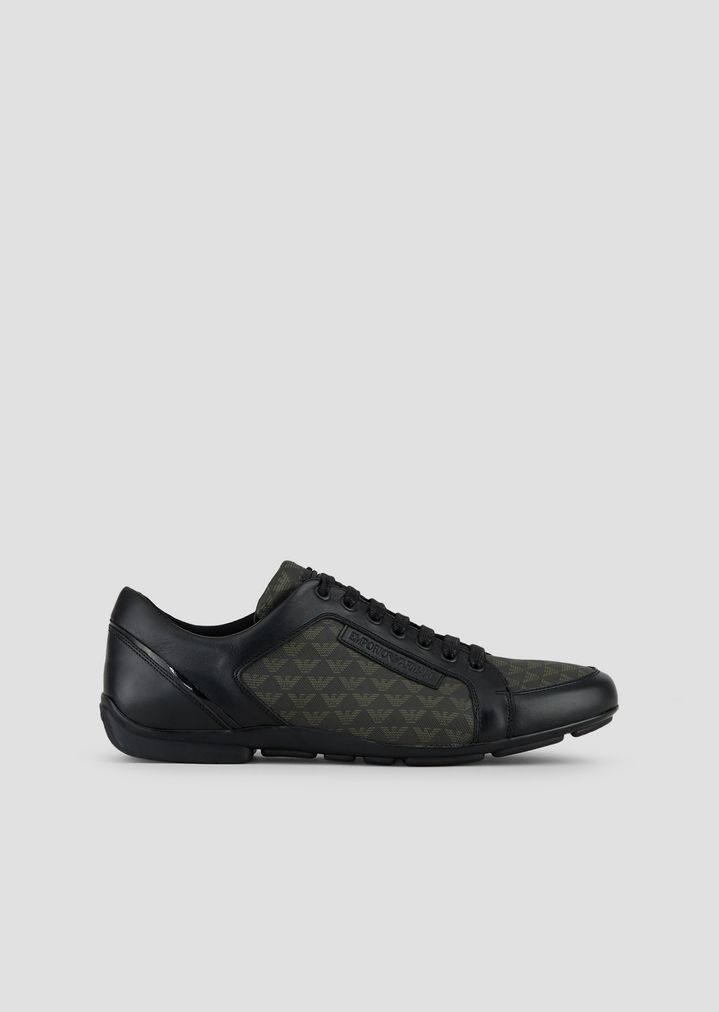 Pelle Con Sneakers Allover E Pvc Logo In CUwvqR