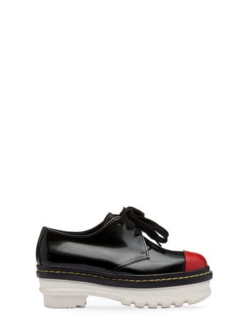 Marni Derby lace-up in shiny leather Woman