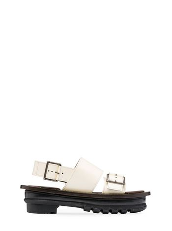 Marni Sandal in leather Woman