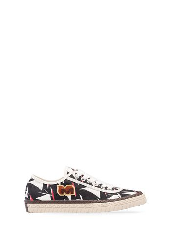 Marni Low-top sneaker in canvas Sail print Woman