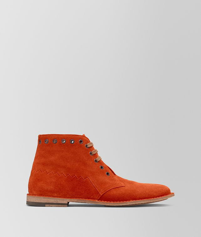 BOTTEGA VENETA DARK TERRACOTTA SUEDE MALDON BOOT Boots and ankle boots Man fp