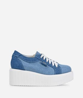 KARL LAGERFELD KREEPER DENIM LACE SHOE