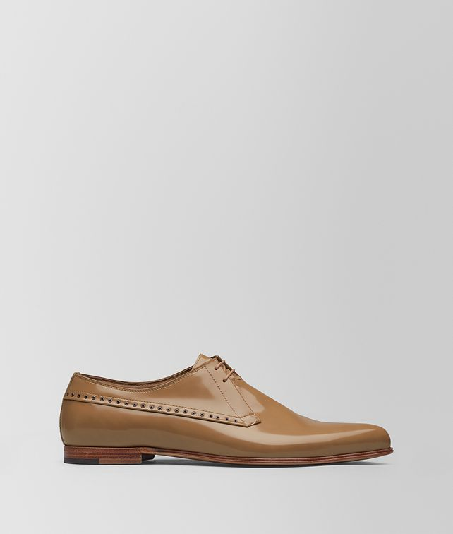 BOTTEGA VENETA CAMEL CALF MARCELLO SHOE Lace Up Man fp
