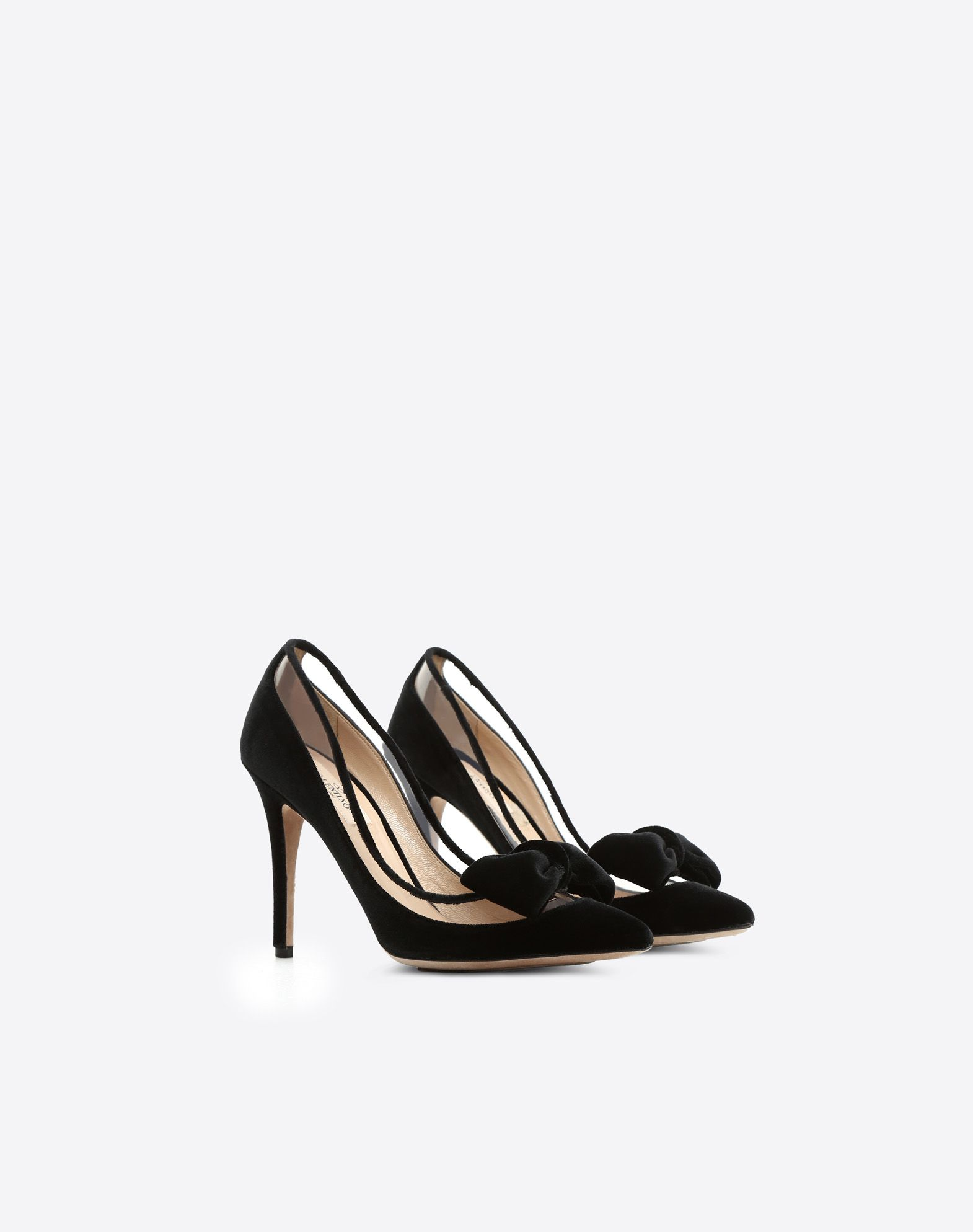 Valentino Garavani Dollybow velvet pumps Sale Wholesale Price Free Shipping Many Kinds Of With Mastercard Cheap Price Dm7S28yU