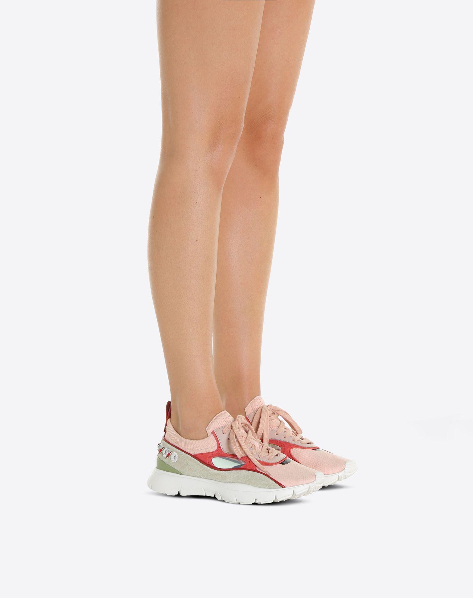 VALENTINO Sneakers bajas con bordado LOW-TOP SNEAKERS D a