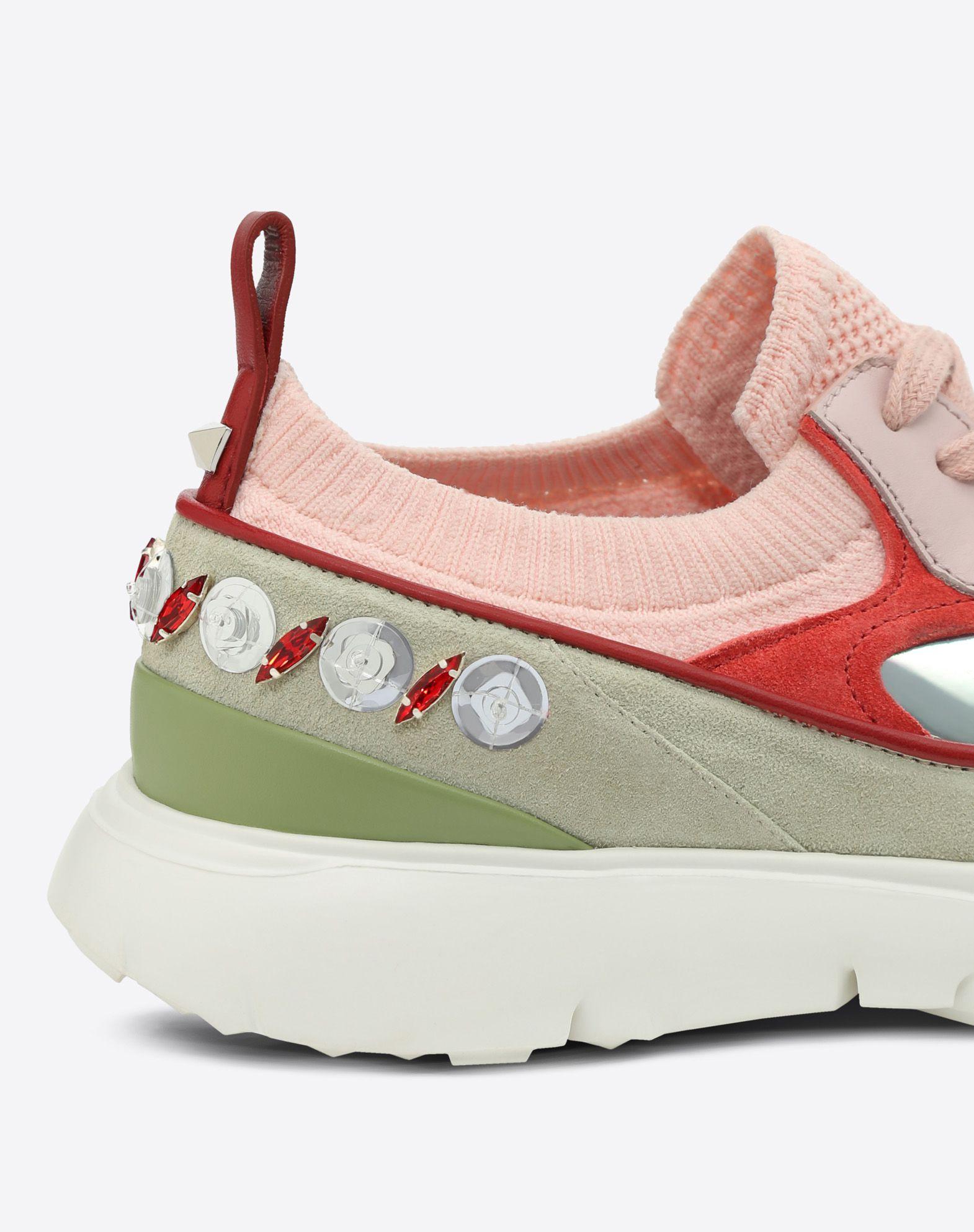 VALENTINO Sneakers bajas con bordado LOW-TOP SNEAKERS D b