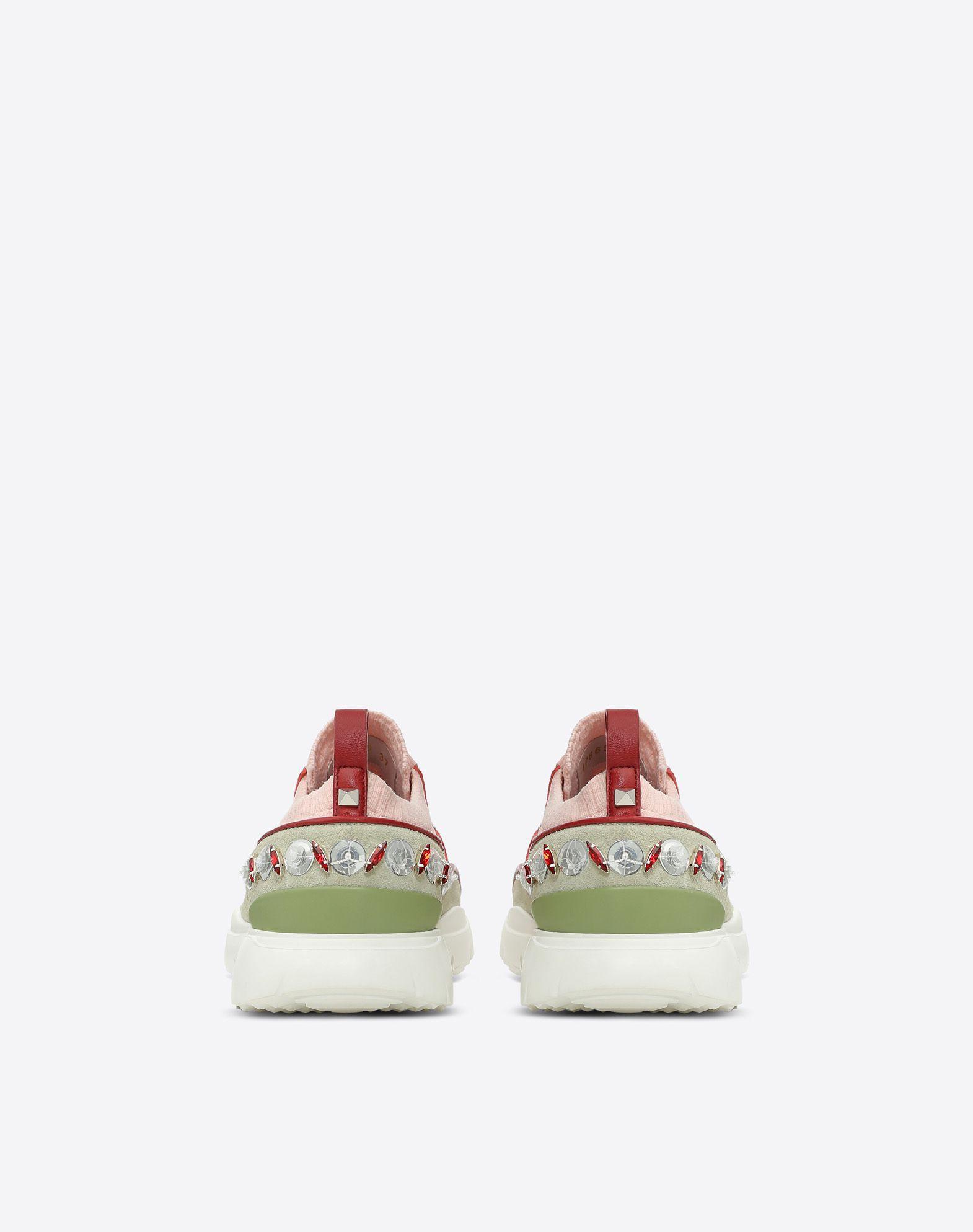 VALENTINO Sneakers bajas con bordado LOW-TOP SNEAKERS D d