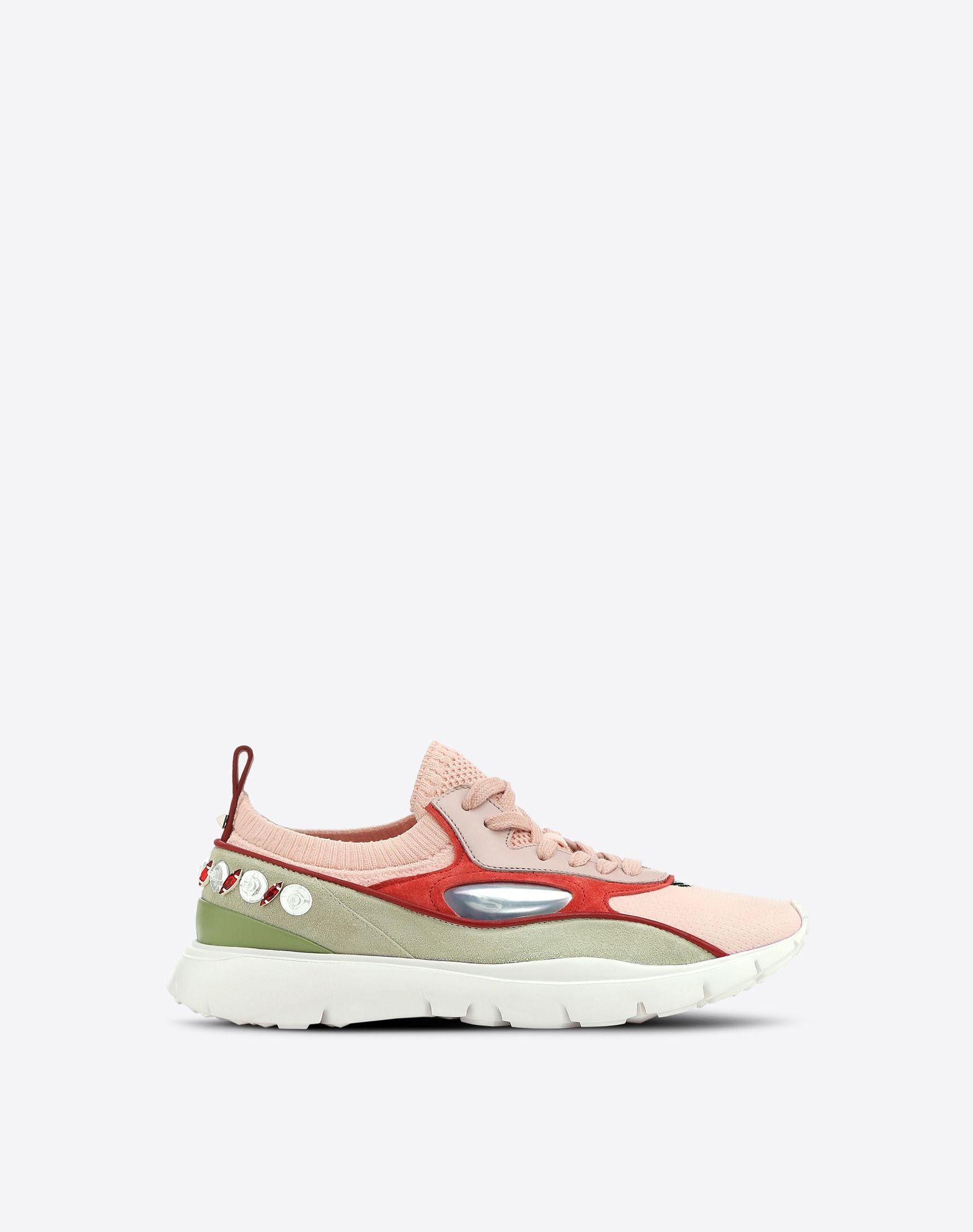 VALENTINO Sneakers bajas con bordado LOW-TOP SNEAKERS D f