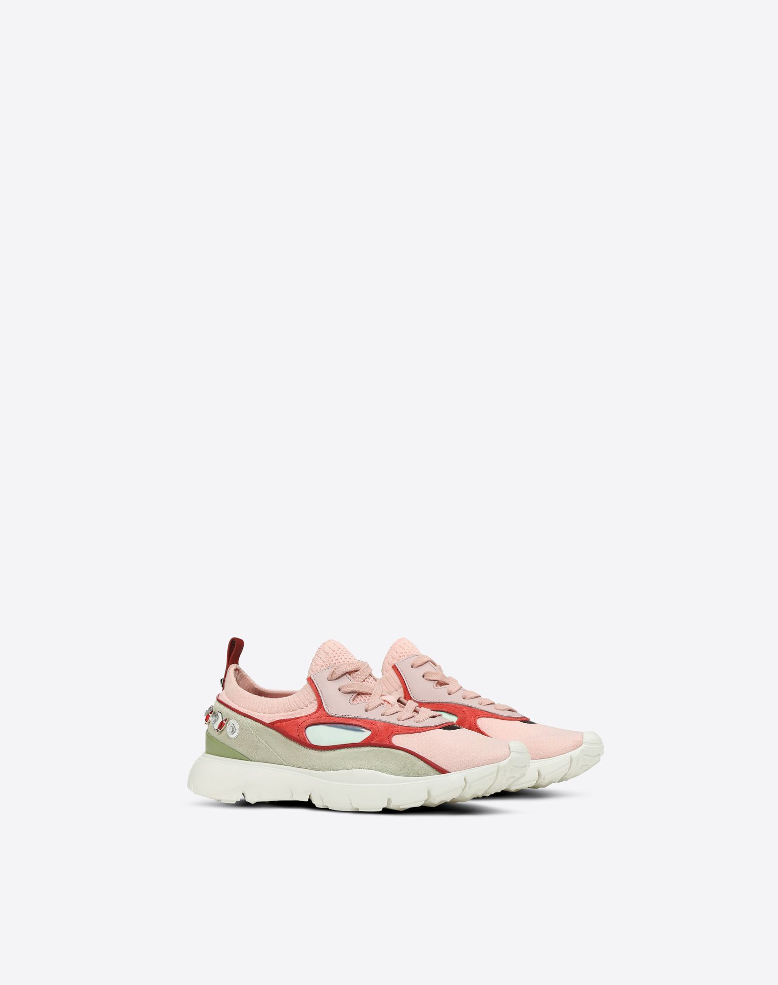 VALENTINO Embroidered low-top Sneaker LOW-TOP SNEAKERS D r