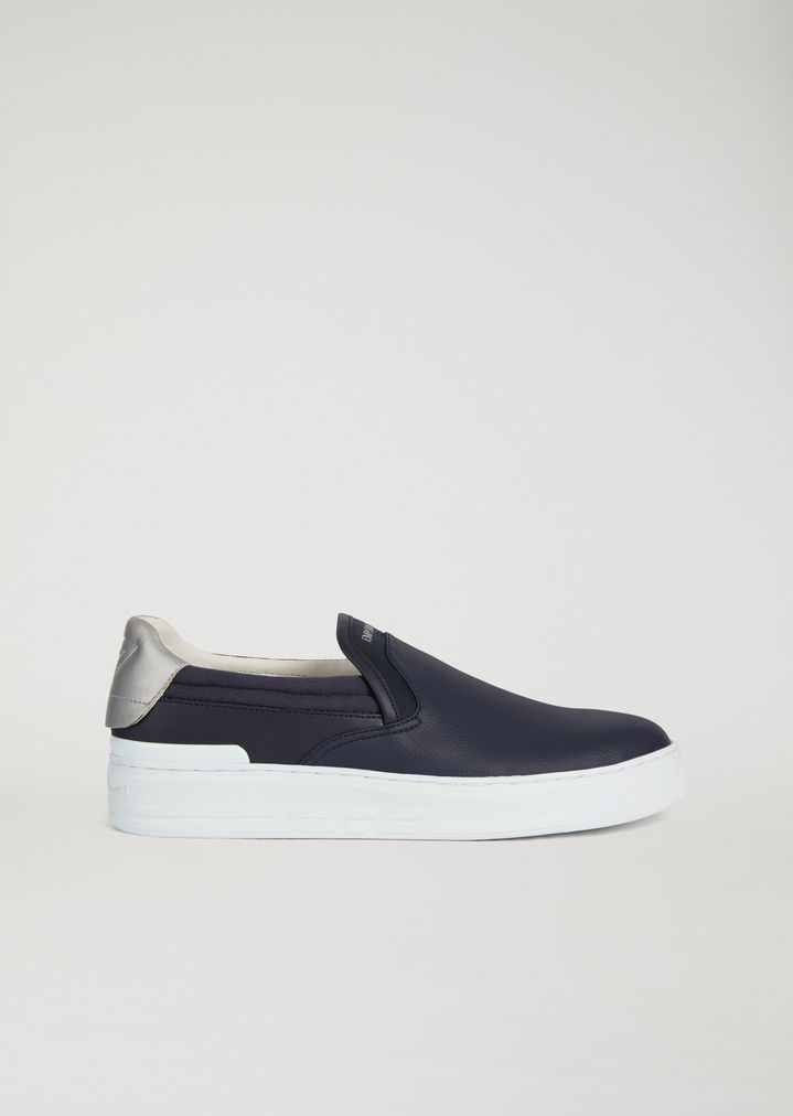 discount cost Emporio Armani logo slip-on sneakers discount 2015 new discount wide range of very cheap cheap online store for sale mwpTaZet