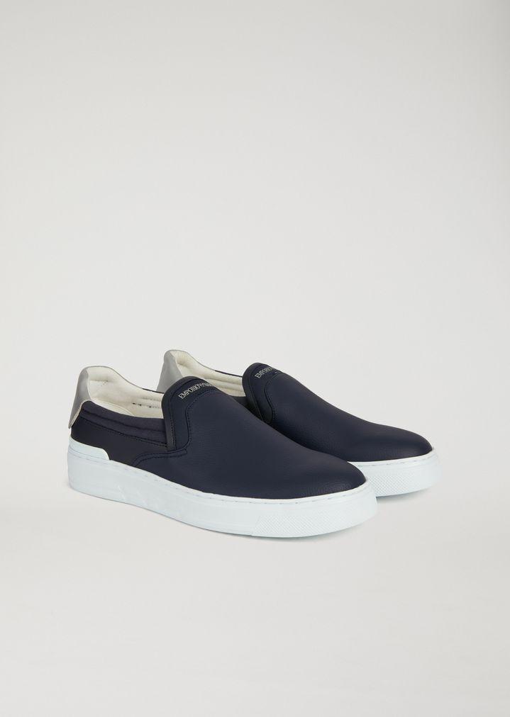 ... EMPORIO ARMANI Slip-on con logo sul tallone Sneaker Uomo r ...