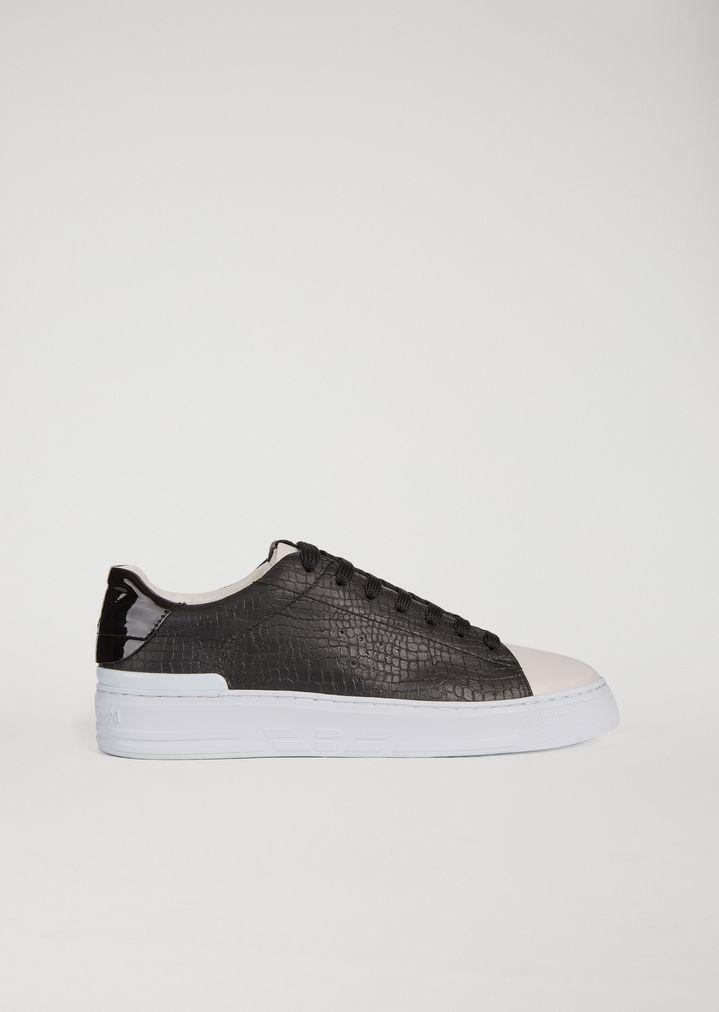 Emporio Armani Sneakers White Black Shoes For Men Favorite