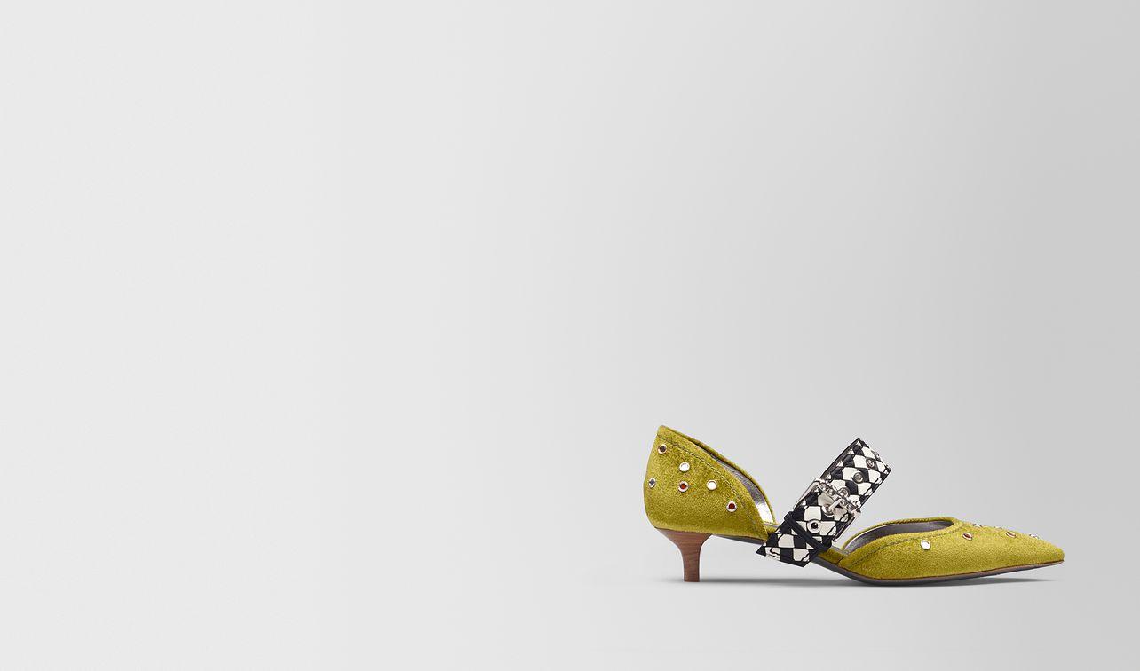 chamomile chenille d'orsay kitten heel  landing