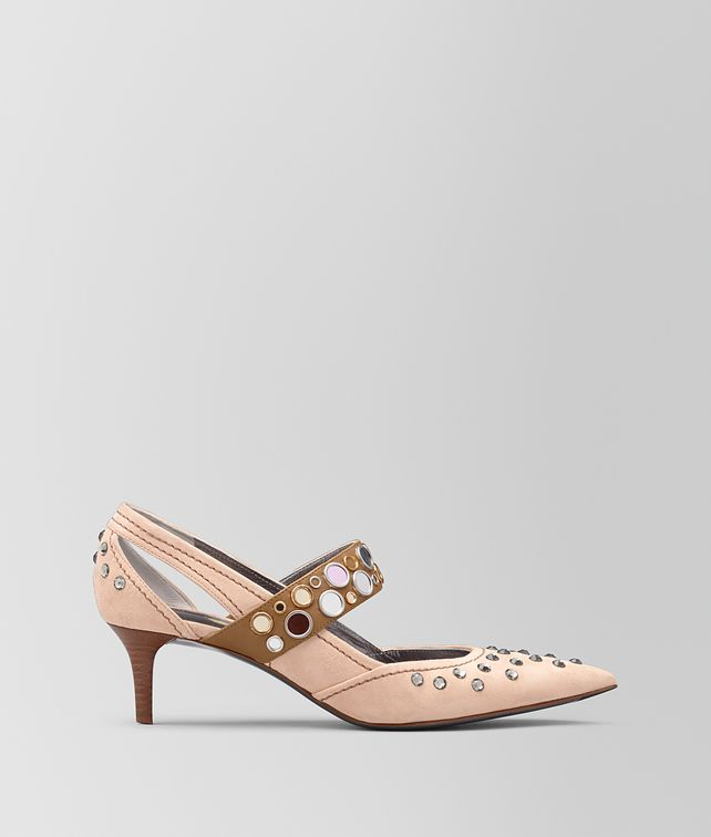 BOTTEGA VENETA PEACH ROSE SUEDE KITTEN HEEL Pump Woman fp