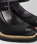 BOTTEGA VENETA NERO SATIN ESPADRILLE WEDGE Sandals Woman ap