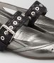 BOTTEGA VENETA ESCARPINS MARY JANE EN VEAU ANTIQUE SILVER Chaussure plate Femme ap