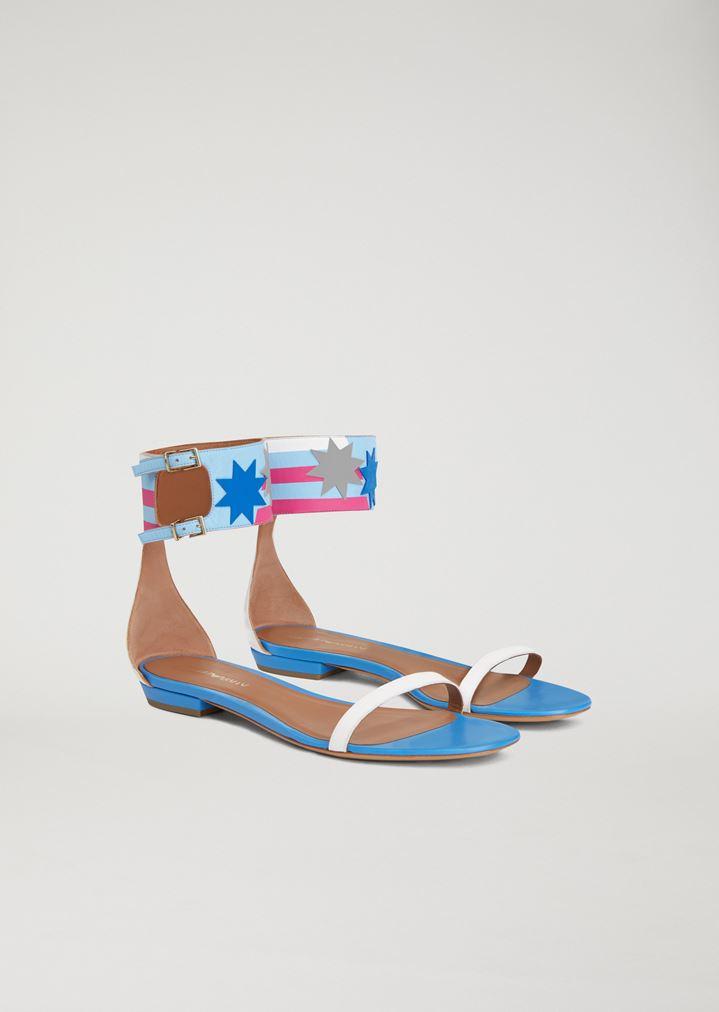 scarpe sportive più popolare grande vendita Sandali con fascia alla caviglia   Donna   Emporio Armani