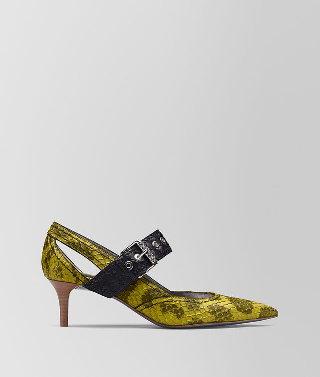 BOTTEGA VENETA CHAMOMILE ANACONDA KITTEN HEEL Pump [*** pickupInStoreShipping_info ***] fp