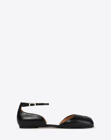 MAISON MARGIELA Leather Tabi flats with ankle straps Ballet flats D f